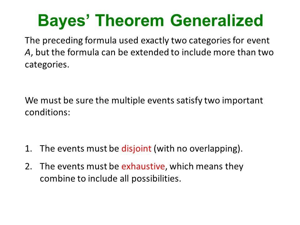 Bayes' Theorem Generalized