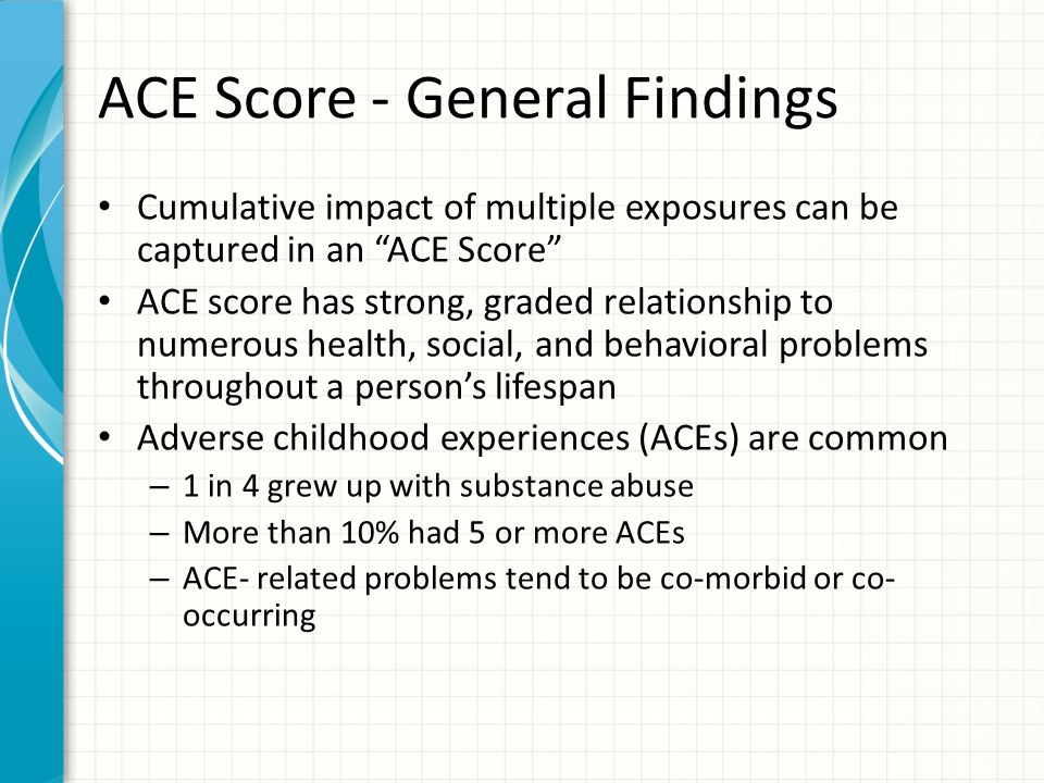 ACE Score - General Findings