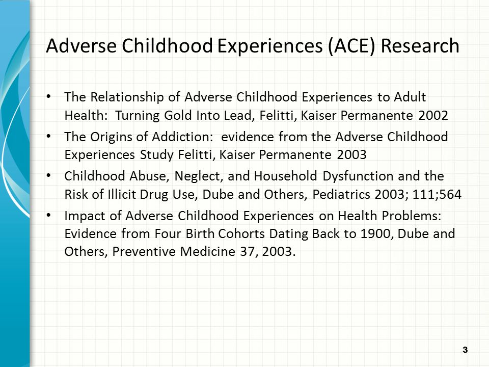 Adverse Childhood Experiences (ACE) Research