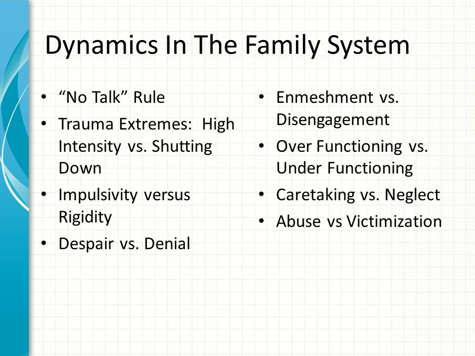 Dynamics In The Family System