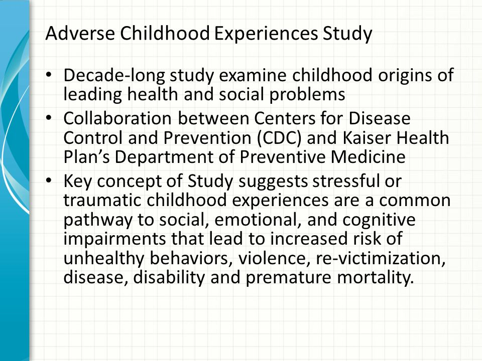 Adverse Childhood Experiences Study