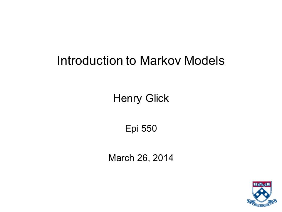 Introduction to Markov Models