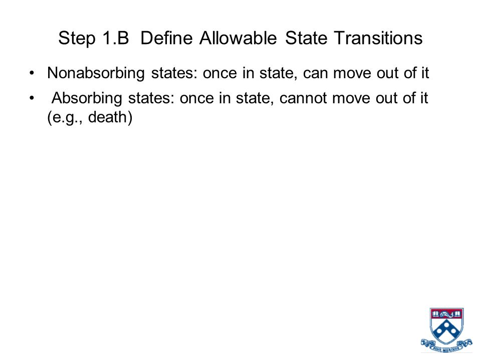 Step 1.B Define Allowable State Transitions