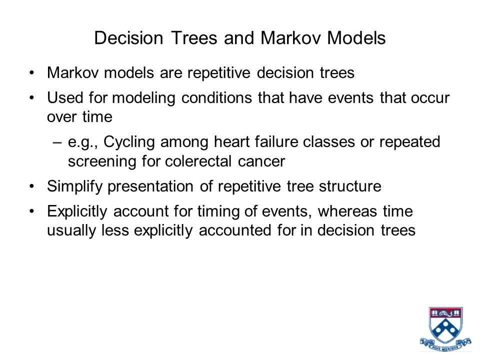 Decision Trees and Markov Models