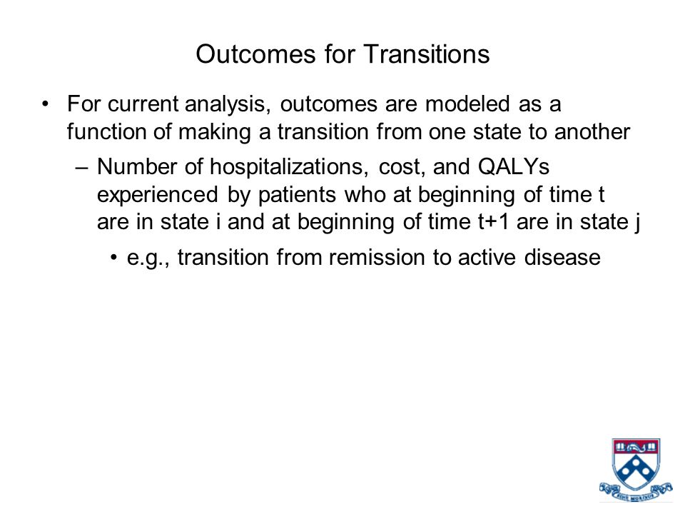Outcomes for Transitions