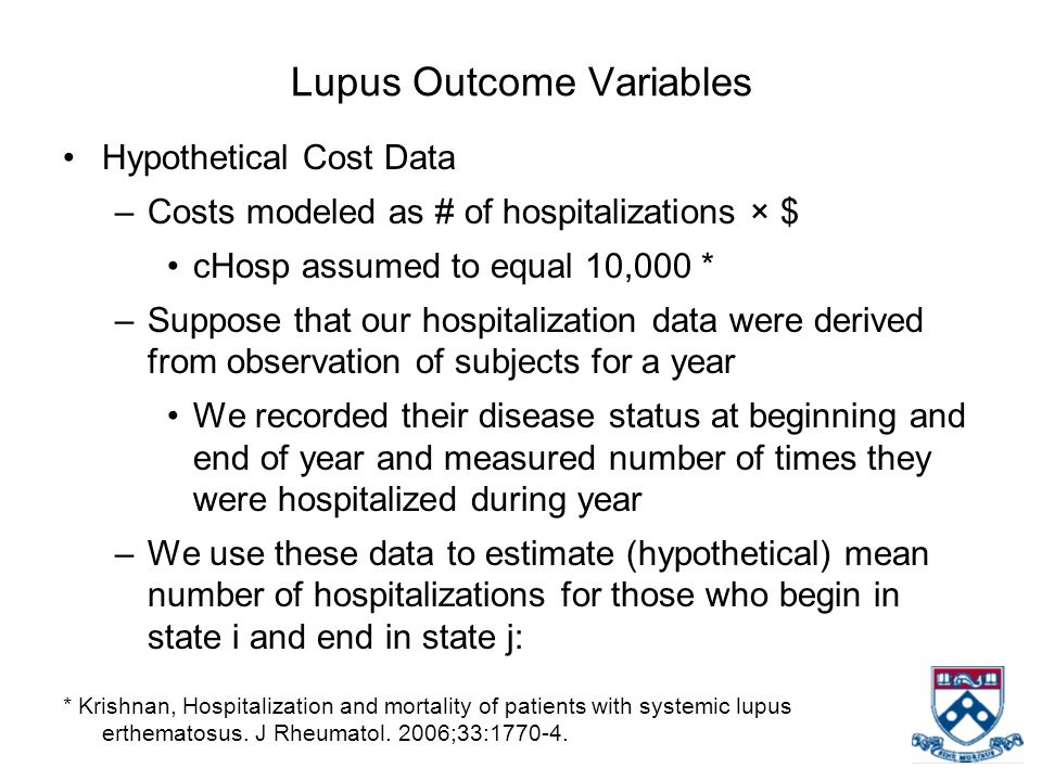 Lupus Outcome Variables