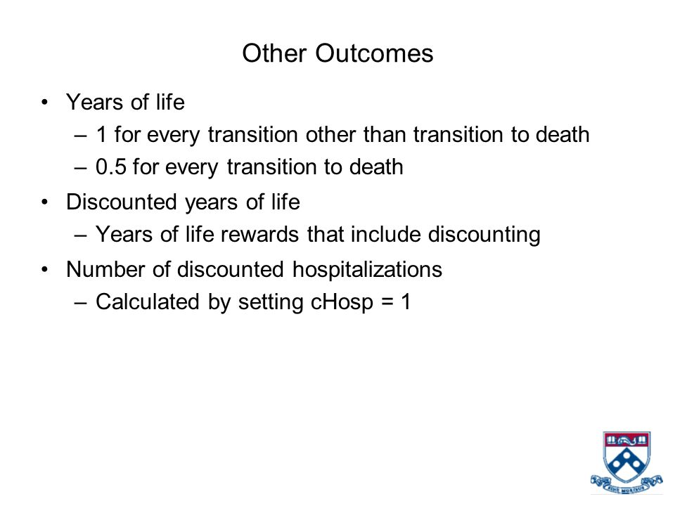 Other Outcomes Years of life