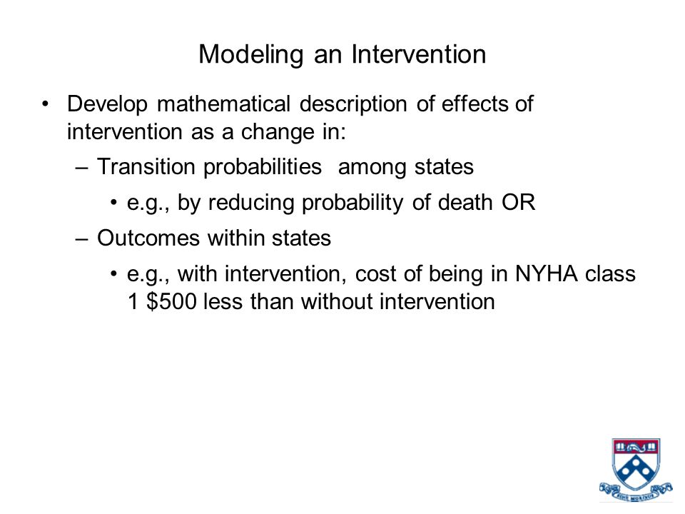 Modeling an Intervention