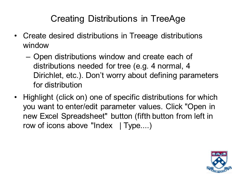 Creating Distributions in TreeAge