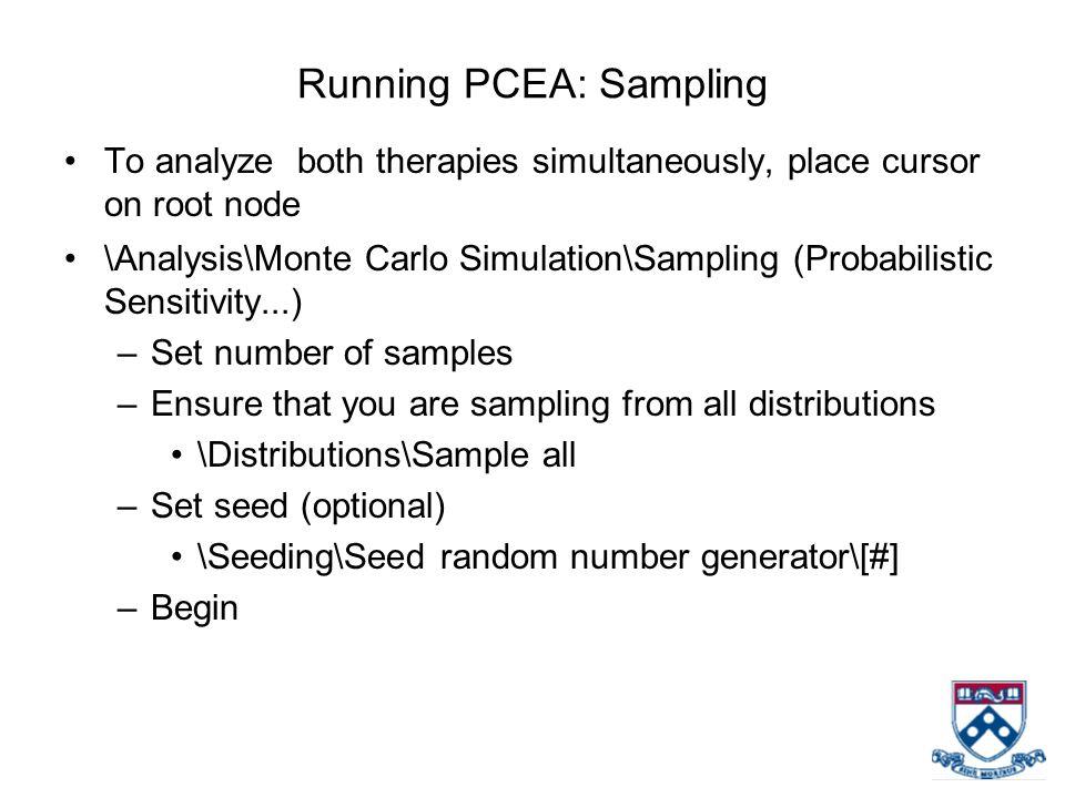 Running PCEA: Sampling