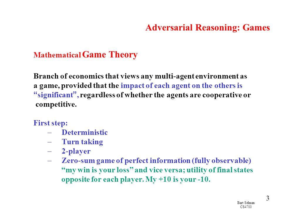 Adversarial Reasoning: Games
