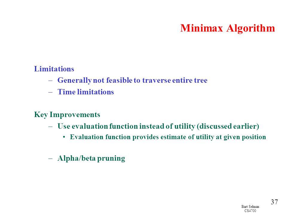 Minimax Algorithm Limitations