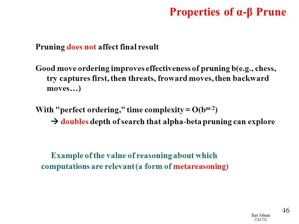 Properties of α-β Prune