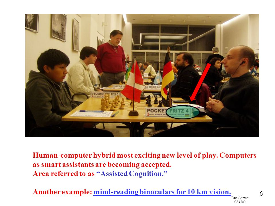 Human-computer hybrid most exciting new level of play. Computers