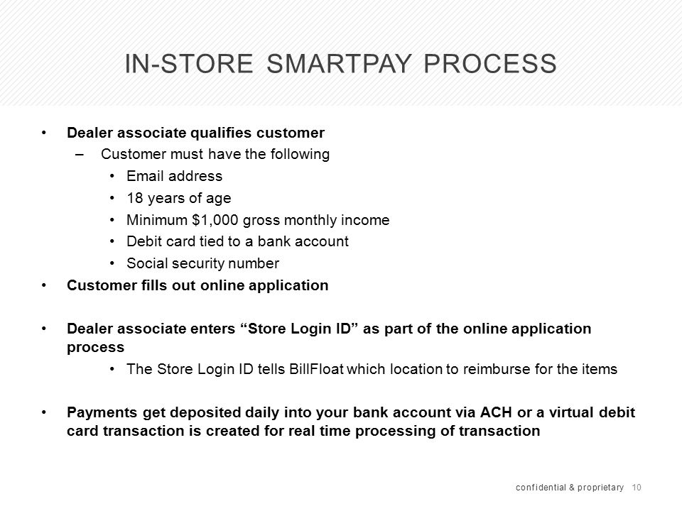 SmartPay Application Process