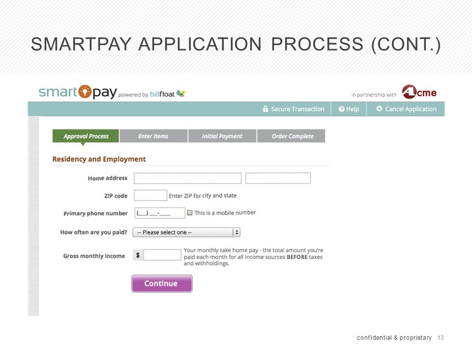 SmartPay 2. 0 Application Process (cont
