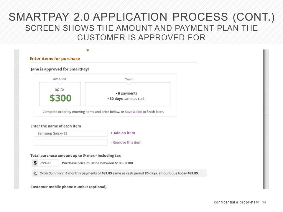 SmartPay Application Process (cont.)