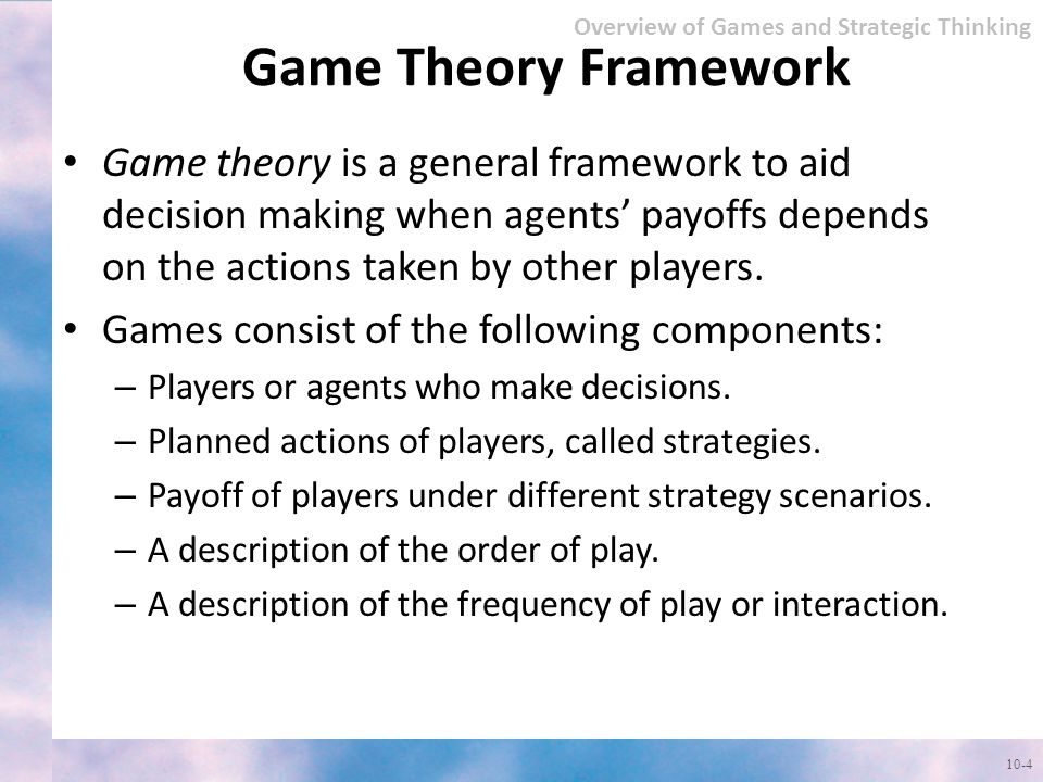 Overview of Games and Strategic Thinking