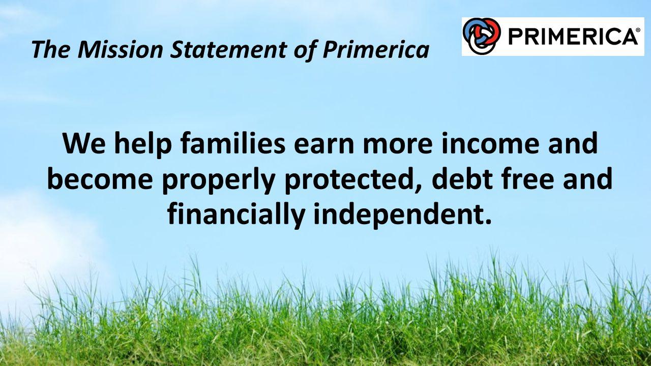 The Mission Statement of Primerica