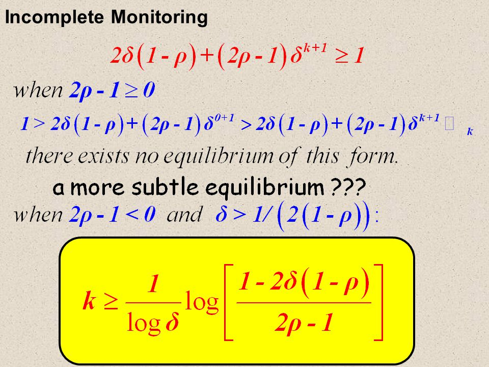 Incomplete Monitoring