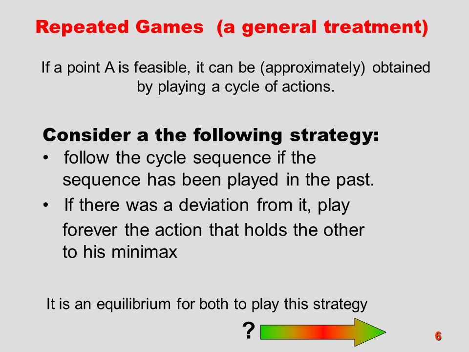 Repeated Games (a general treatment)