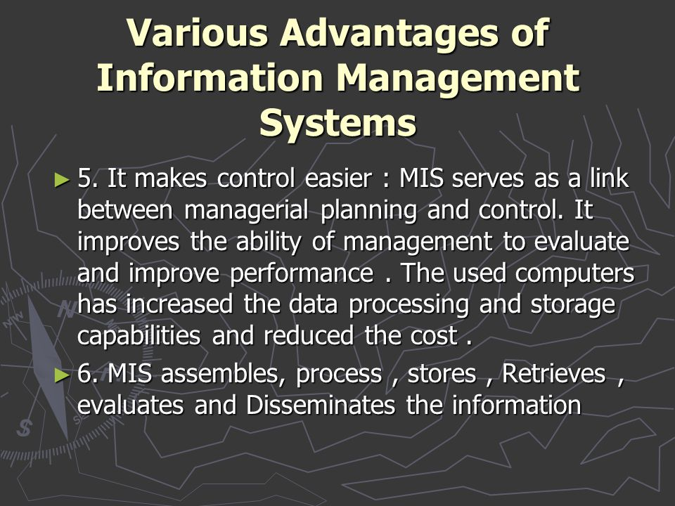 Various Advantages of Information Management Systems
