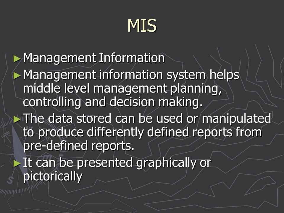 MIS Management Information