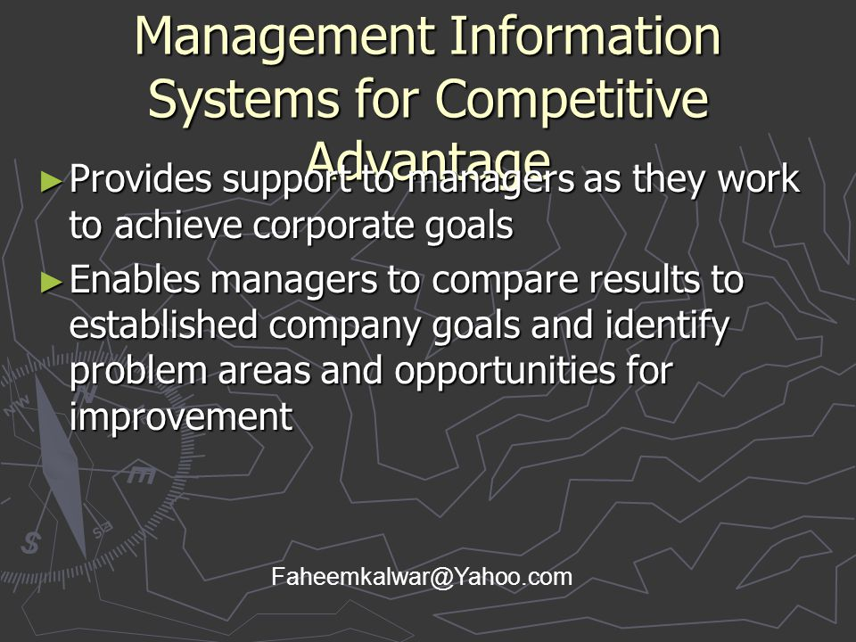 Management Information Systems for Competitive Advantage