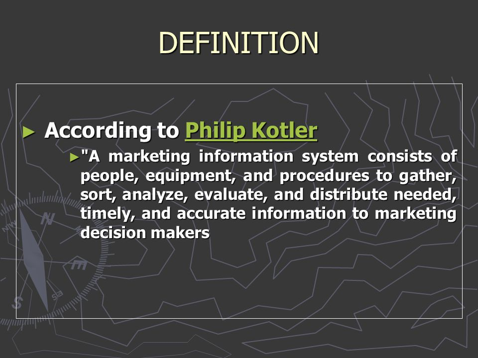 DEFINITION According to Philip Kotler