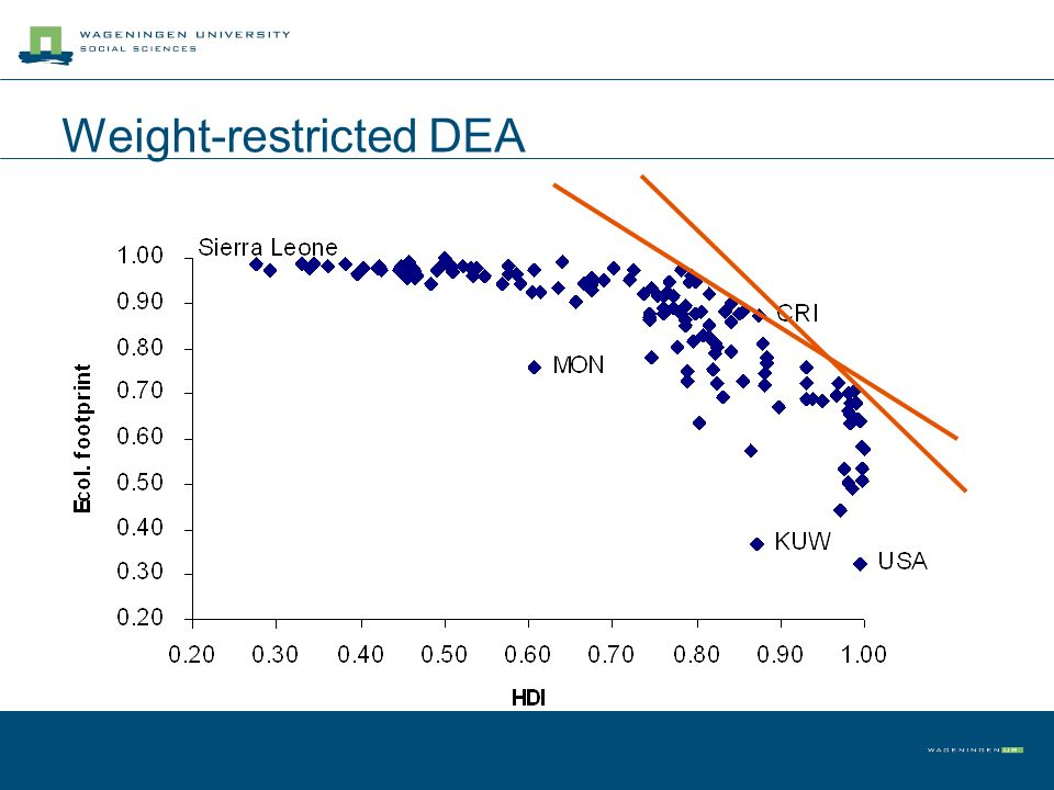 Weight-restricted DEA