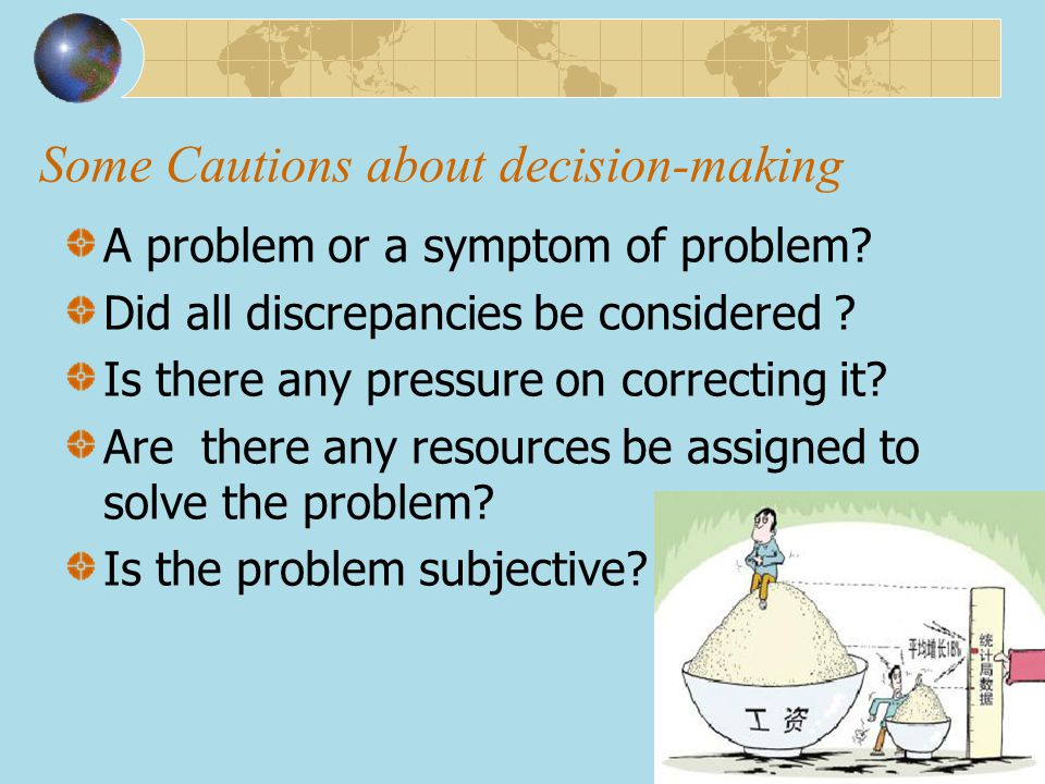 Some Cautions about decision-making