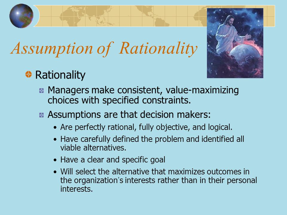 Assumption of Rationality