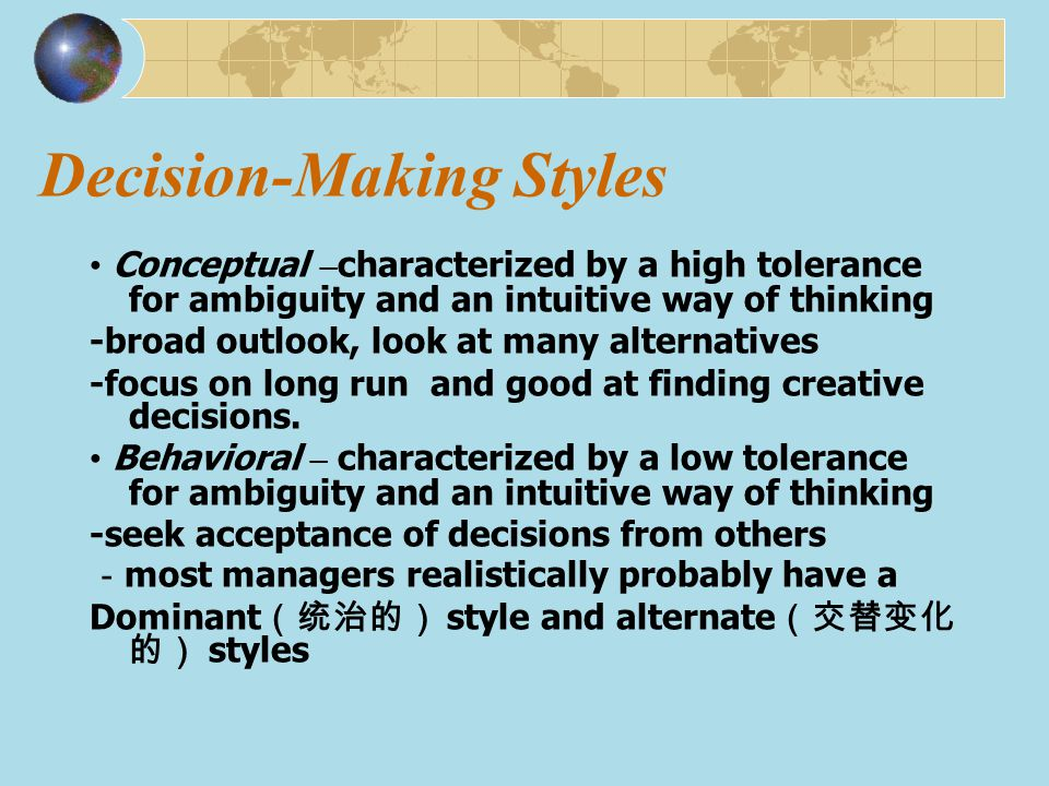 Decision-Making Styles