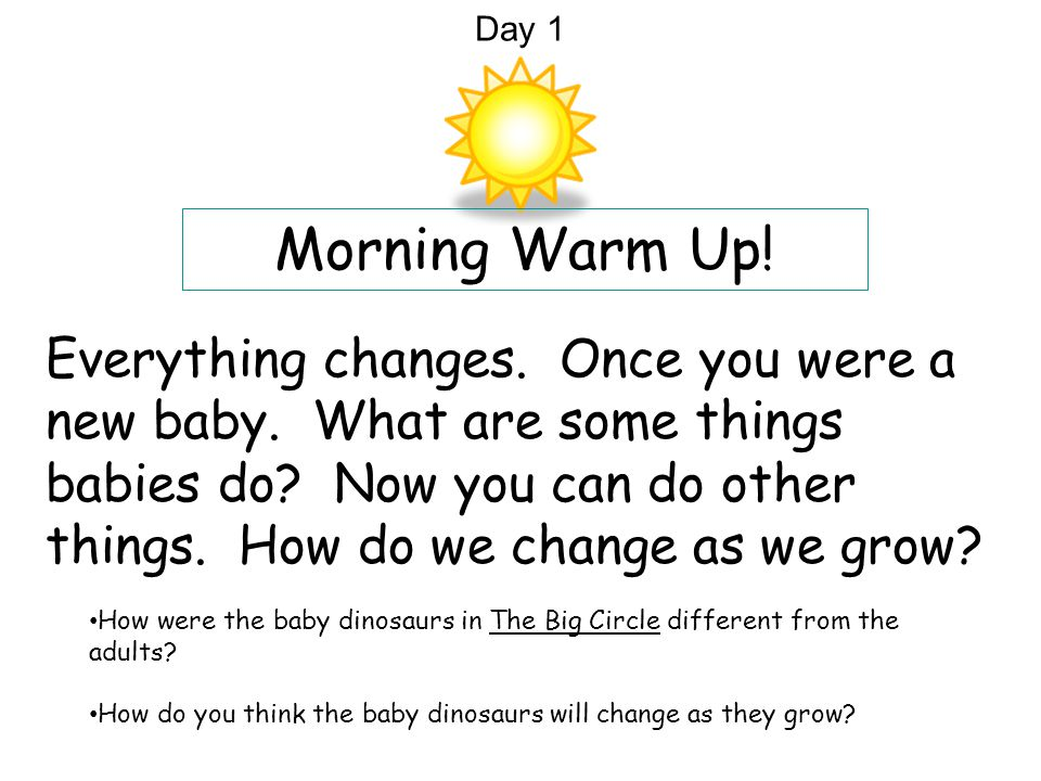 Day 1 Morning Warm Up!