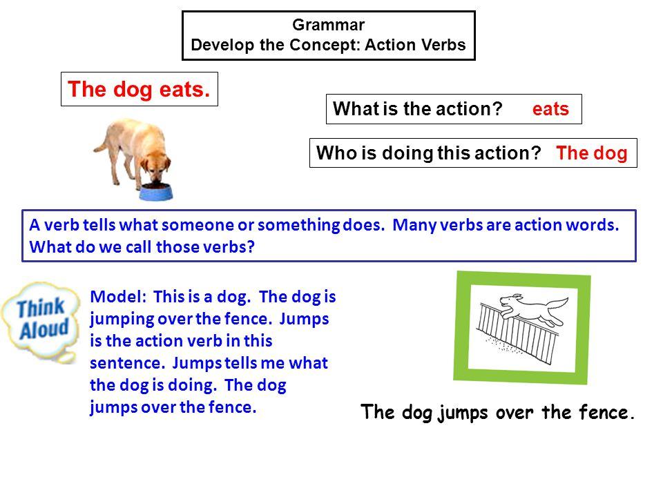 Develop the Concept: Action Verbs