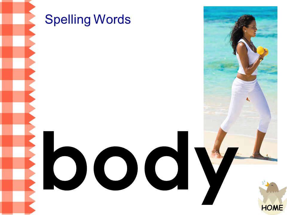 Spelling Words body