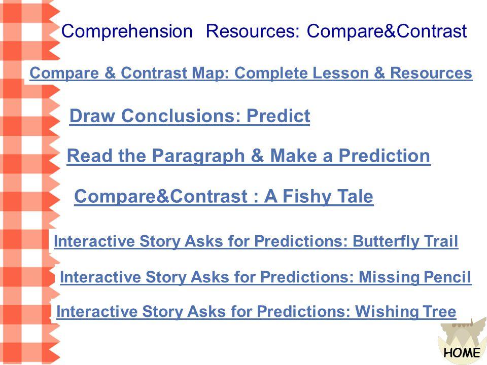 Comprehension Resources: Compare&Contrast
