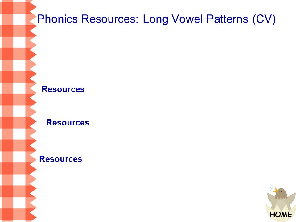 Phonics Resources: Long Vowel Patterns (CV)
