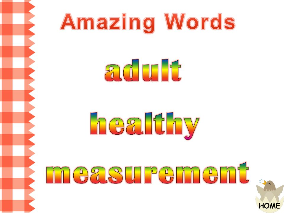 Amazing Words adult healthy measurement