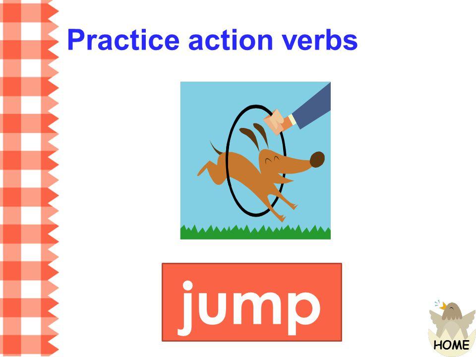 Practice action verbs jump