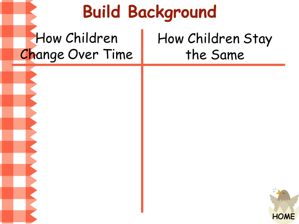 Build Background How Children Change Over Time