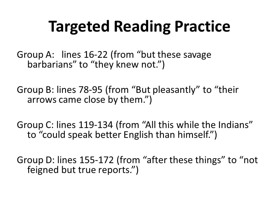 Targeted Reading Practice