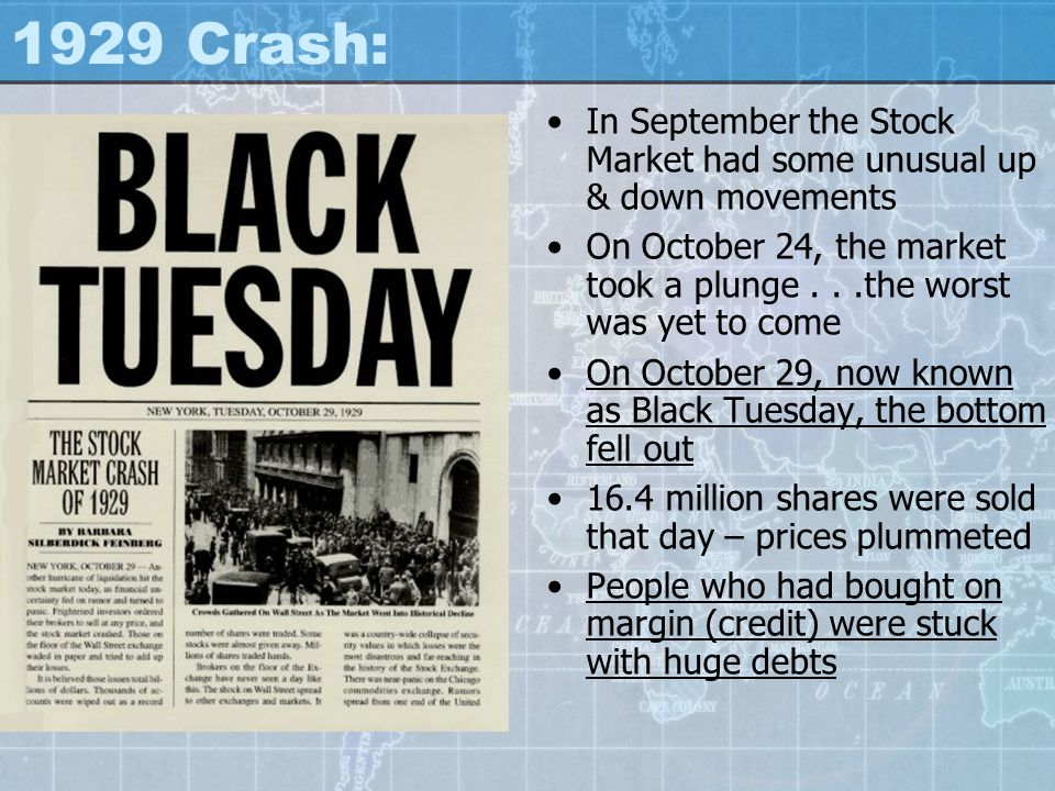 1929 Crash: In September the Stock Market had some unusual up & down movements.