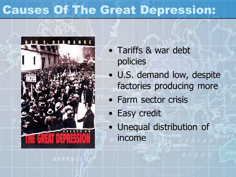 essay question on the great depression Great depression essays are excellent topics for history essay papers the great depression affected the global economy and had devastating effects.