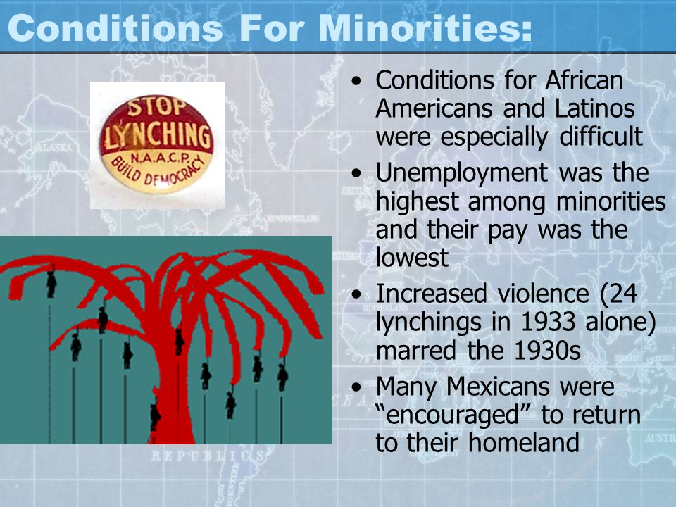 Conditions For Minorities: