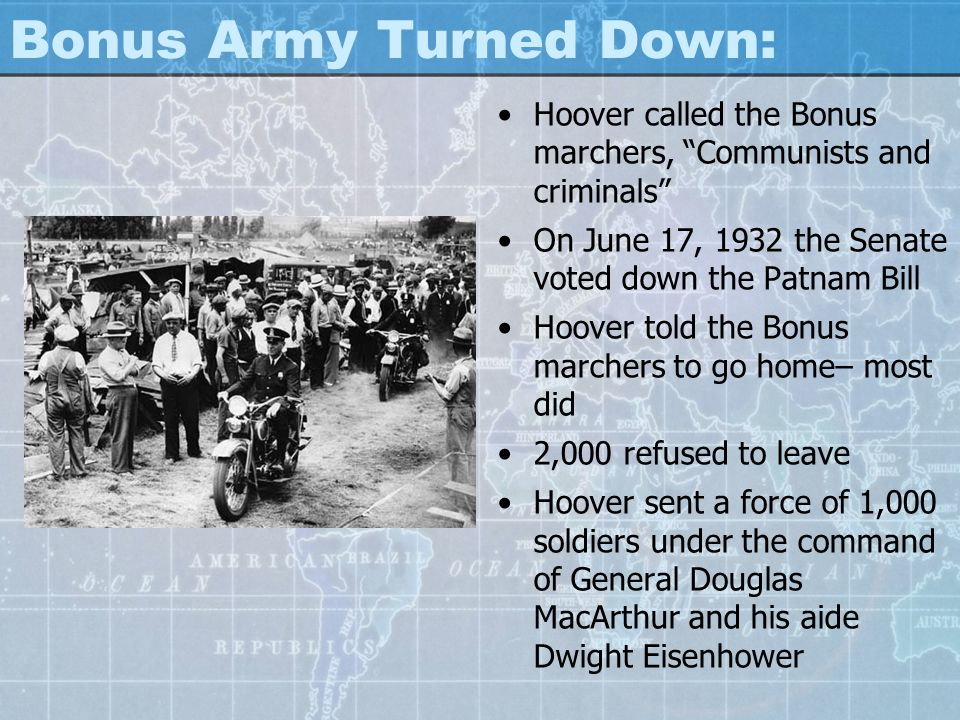 Bonus Army Turned Down: