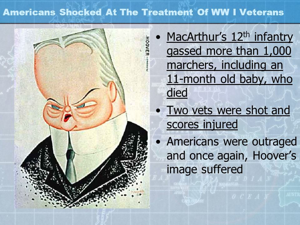 Americans Shocked At The Treatment Of WW I Veterans