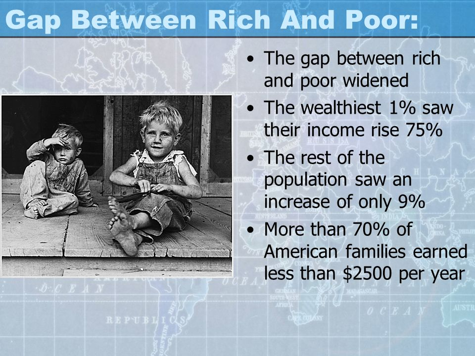 Gap Between Rich And Poor: