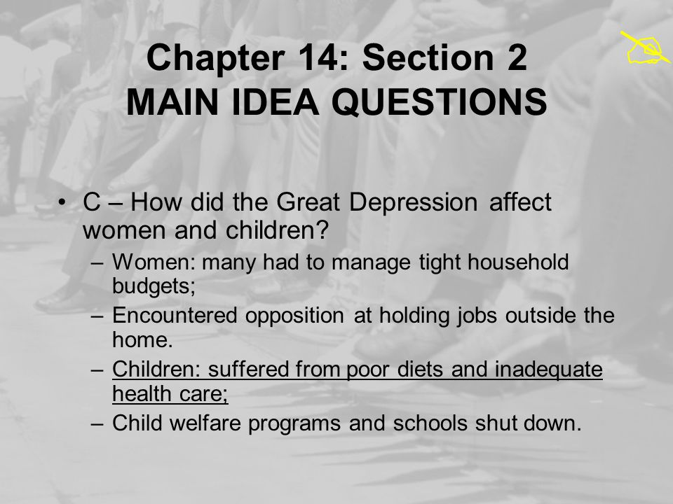 Chapter 14: Section 2 MAIN IDEA QUESTIONS