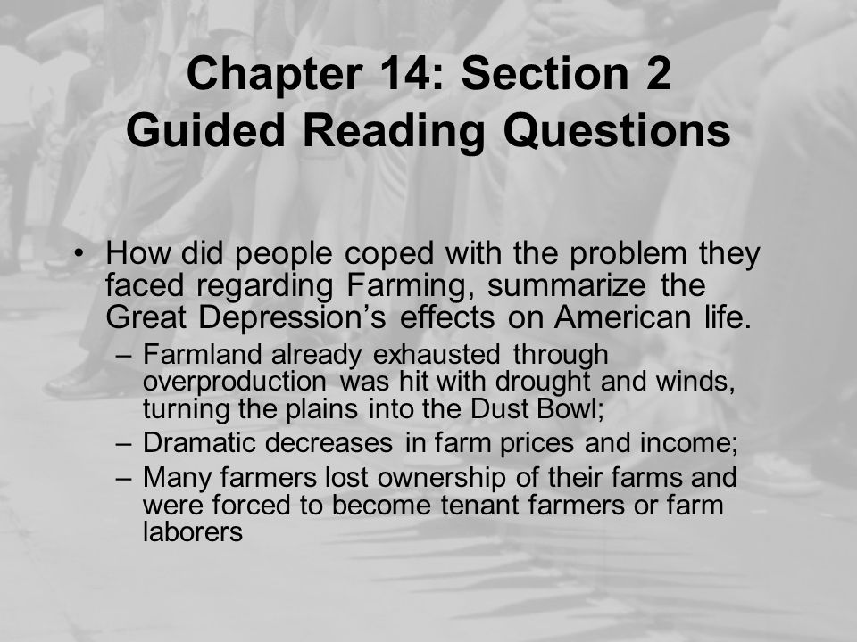 Chapter 14: Section 2 Guided Reading Questions